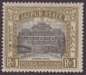 India  Jaipur state  1931 SG49 1r Black & Pale Olive LMM CV£140