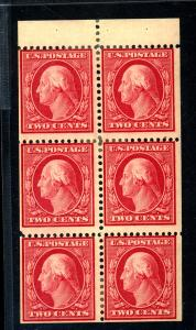 U.S. #331a MINT Booklet Pane F-VF OG HR's Cat $135