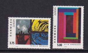 Denmark  #983-984   MNH   1993   Europa   contemporary art