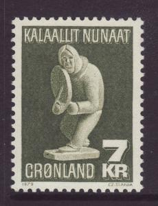 1979 Greenland 7 Kr Folk Art U/M