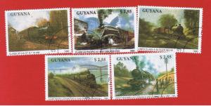Guyana  #2291-2295  CTO   Locomotives  Free S/H