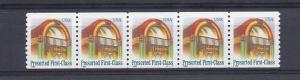 United States, 2912, Juke Box Plate Strip of 5 Plt#: S11111,  **MNH**