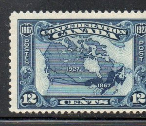 Canada Sc 145 1927 12 c Map of Canada stamp mint