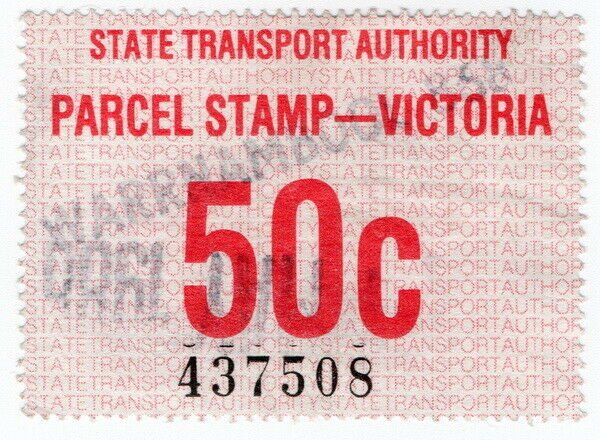 (I.B) Australia - Victoria Railways : Parcel Stamp 50c (Warrnambool)