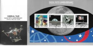 2008    GIBRALTAR  -  NASA  50th ANNIVERSARY    -   FIRST DAY COVER