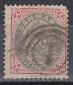 Denmark #31 Fine Used CV $32.50 (B7485)