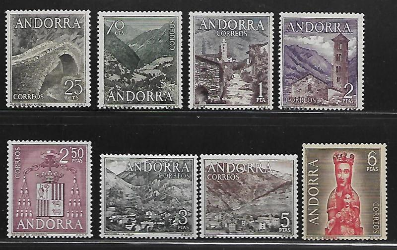 ANDORRA 50-57 MINT HINGED, SET OF 1963-1964
