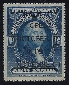 1913 International Stamp Exhibition Cinderella Blue Poster Stamp Overprinted MNH