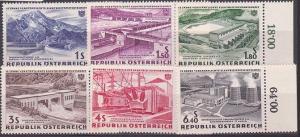 AUSTRIA 1962 Dams - Electricity set MNH....................................67888