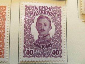 Bosnia & Herzegovina 1918 40h fine MH* semi-postal stamp A13P18F84