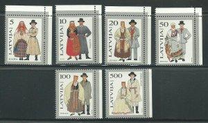 1993 Latvia Scott Catalog Number 343-348 Unused Never Hinged