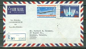 NEW HEBRIDES BRITISH...CONCORDE #130-131..SET on REGISTER. AIR COVER to CANADA