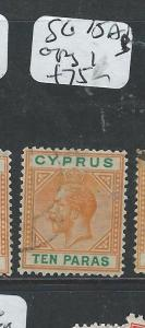 CYPRUS (P0108B) KGV 10 PA SG74AB COPY 1  VFU