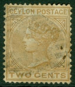 EDW1949SELL : CEYLON 1872 Scott #77 Very Fine, Used. 2 tiny spots. Catalog $75.