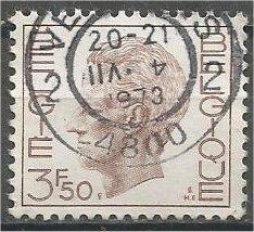 BELGIUM, 1971, used 3.50fr, King Baudouin, Scott 752