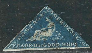 Cape of Good Hope 4b SG 6 Used Fine 1855 SCV $90.00