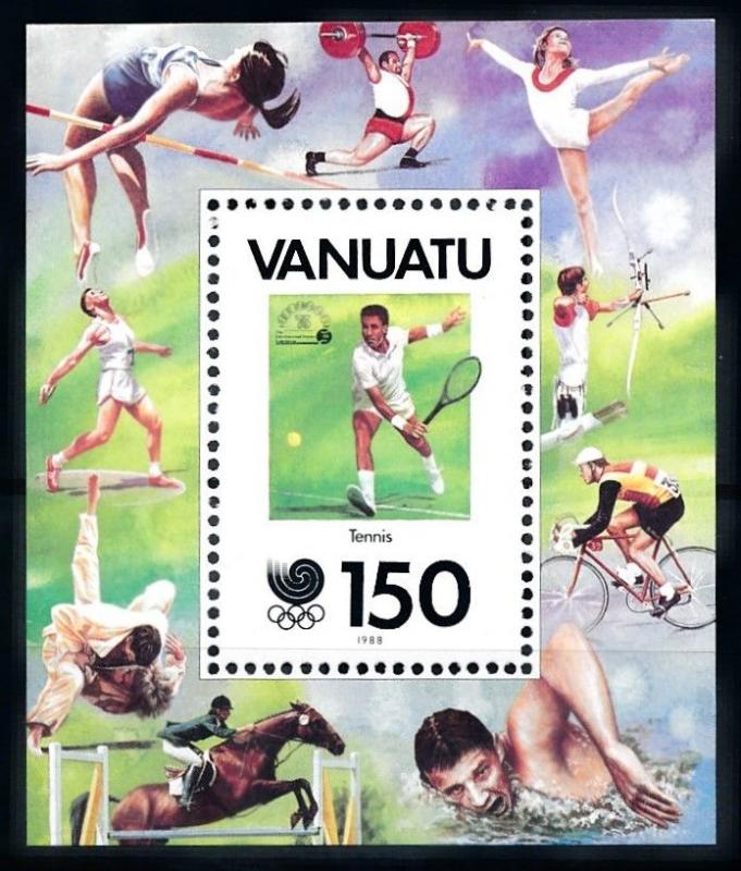 [92338] Vanuatu 198 Olympic Games Seoul Tennis Gymnastics Judo Sheet MNH