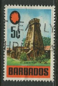 Barbados -Scott 332 - Definitives - 1970 - Used - Single 5c Stamps
