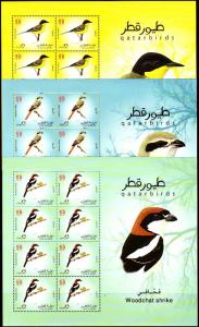 QATAR STATE ,6 MINI SHEET , LOCAL BIRDS  LIMITED EDITION IMPERF   2009