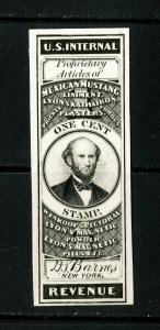 US Stamps # RS18P4 1c Revenue XF Card Proof Fresh Scarce