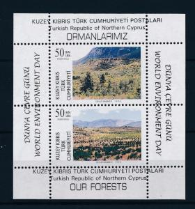 [51487] Turkish Cyprus 1996 Flora World Environment Day Trees MNH Sheet