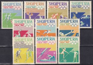 Albania #754-63  MNH CV $6.10  (Z8024)