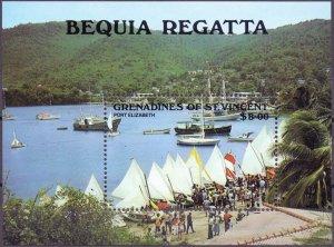 Saint Vincent and the Grenadines. 1988. bl32. sailing. MNH.