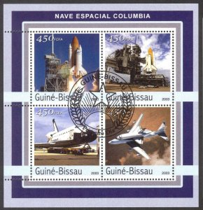 Guinea Bissau 2003 Space Columbia Sheet 4 Used / CTO