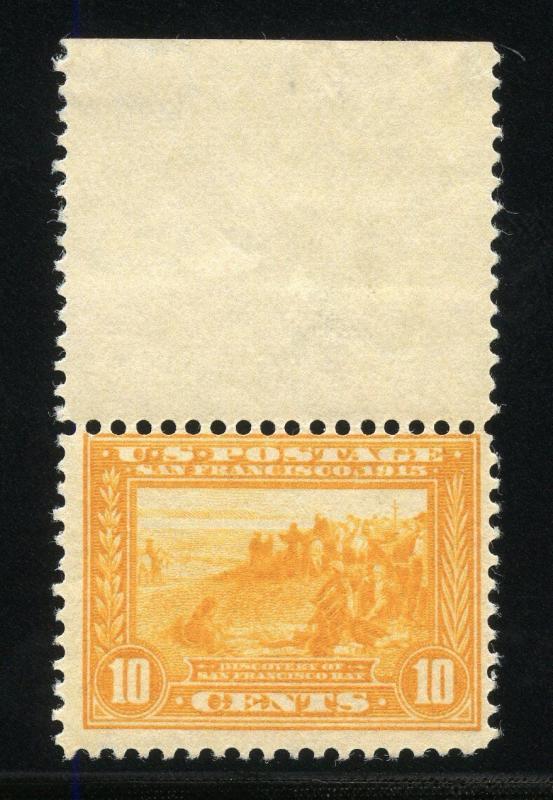 UNITED STATES 10c PANAMA PACIFIC SCOTT#400  MARGIN COPY  MINT NEVER  HINGED  OG