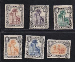 Nyassa # 26/35, Giraffes & Camels, Short set,