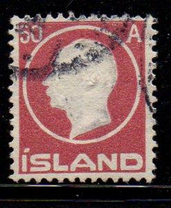 Iceland Sc 95 1912 50 aur claret Frederik VIII stamp used