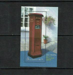 Guernsey: 2002  150th Anniversary of the First Pillar Box, M/S
