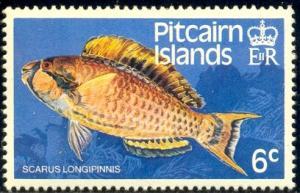 Fish, Highfin Parrotfish, Pitcairn Islands stmap SC#233 MNH