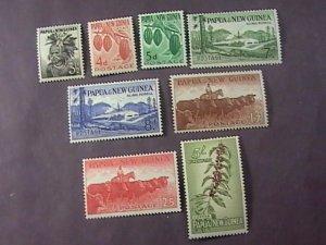 PAPUA/NEW GUINEA # 139-146-MINT/HINGE-COMPLETE SET-1958-60