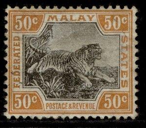 MALAYSIA - Federated Malay EDVII SG47ab, 50c grey/orange-brown M MINT. Cat £130.