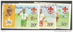 Nauru 1978 Scott 188-190 70th Anniversary Boy Scouts used