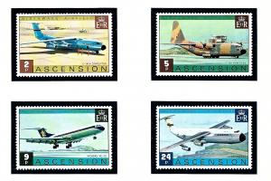 Ascension Is 185-88 MNH 1975 Airplanes