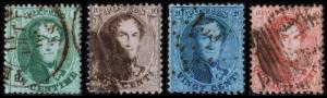 Belgium Scott 13-16 (1865) Used H F-VF Complete Set, CV $58.25