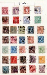 Spain fine collection on 9 Album Pages (good cat value) WS15001(L)