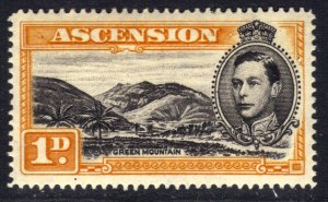 Ascension Island 1949 KGV1 1d Green Mountain MM SG 39c ( R460 )