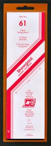 Showgard Stamp Mounts Size 61 / 215 CLEAR Background Pack of 15