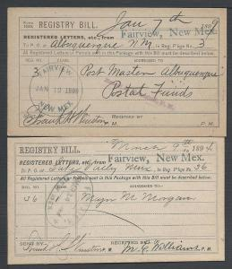 Fairview, Two Package Receipts, New Mexico