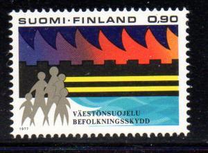 Finland Sc 601 1977 Civil Defence stamp NH