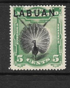 LABUAN  1894-96  5c   PICTORIAL    MLH    SG 65