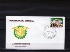 Senegal 1981FDC Dakar Fair/Trucks/Aircraft/Tree/Set(1)Sc 548