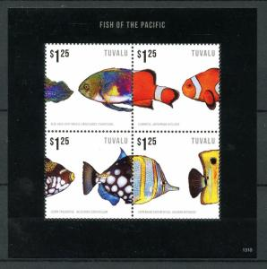 Tuvalu 2013 MNH Fish of Pacific I 4v M/S Marine Wrasse Clownfish Fishes Stamps