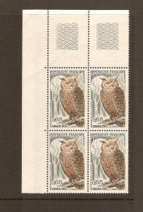 FRANCE STAMPS MNH -PAINTINGS 1972 PLATE BLOCK LOT#329
