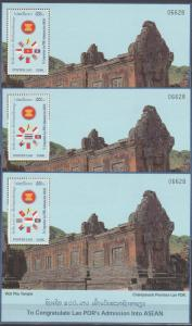 Laos #1359 Set Of 9 Souvenir Sheets  MNH CV $85.00 (K926L)