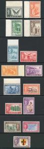 Sarawak SG171/85 KGVI 1950 set of 15 M/M