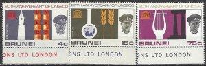 Brunei  128-30  MNH  UNESCO 20th Anniversary